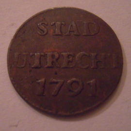 Utrecht - city , 1 Duit 1791      Su20/KM91/V.116.6 (16056)