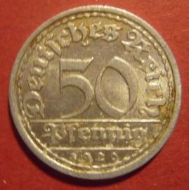 Weimar Republic - 50 Pfennig 1920 J. Al J301/KM27 (6202)