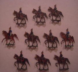 1870 Prussian dragoons , 10x flat 30mm scale. Heinrichsen - Nürnberg (15625)