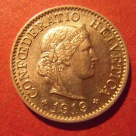 5 Rappen 1919 B                    KM26 (11892)