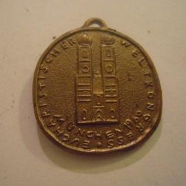 1960 Munich - München , 37th Eucharistic World Congress - Pro mundi vita.  30mm  (14416)