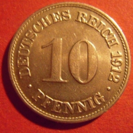 10 Pfennig 1912 D  near Unc !!!     J13/KM12 (6443)