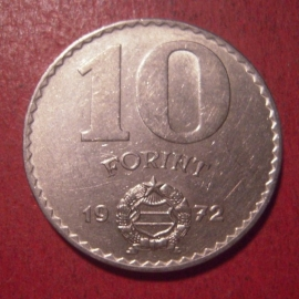 Hungarian People's Republic - 10 Florint 1972. Ni KM595 (12582)