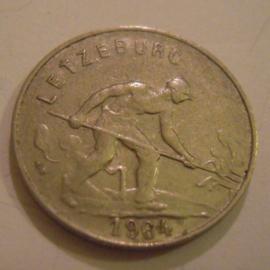Luxembourg - Charlotte , 1 Franc 1964. CuNi KM46.2 (15181)
