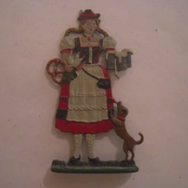 1900's Octoberfest Munich waitress in traditional dress , 1x flat 70mm scale (16081)