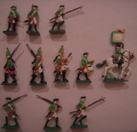 1760 Russian infantry , 11x Semi-flat 40mm scale (15590)
