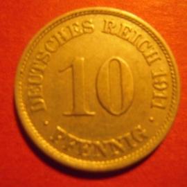 10 Pfennig 1911 J       J13/KM12 (6239)
