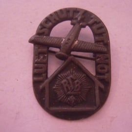 1933 - 1940's DLB , German WWII Air defence pin.  Metal black 25x35mm (15893)