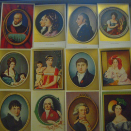 Old German collector cards - Portrets of world history , 24x. Pre WWII  105x70mm !! (13776)