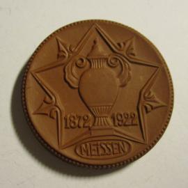 1922 Meissen , Porcelain factory former C.Teichert 1872-1922. Teichert Meissen 50mm Sch-(a) brown (16423)