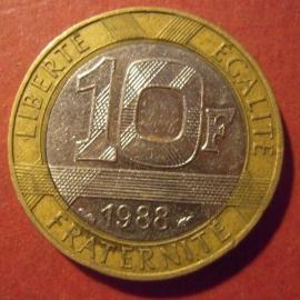 10 Francs 1988     KM964.1 (11709)