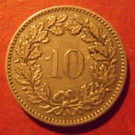 10 Rappen 1894 B      KM27 (11900)