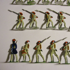 1880 - 1910  Ottoman empire , Egyptian infantry , 34x flat 30mm scale (16424)