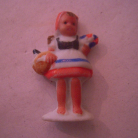 1944 spring German WHW donation gift. Fairy tales -  Little Red Cap. Porcelain glazed !!! T586.2 (15881)