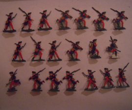 1760 French infantry , 20x flat 30mm scale. Heinrichsen - Nürnberg (15677)