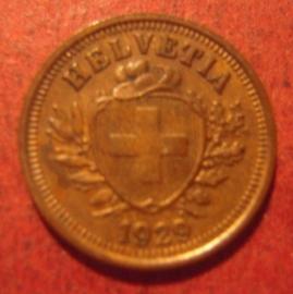 1 Rappen 1929      KM3.2 (11346)
