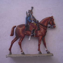 1870 French hussar , 1x flat 30mm scale. Rieche - Hannover ? (15740)