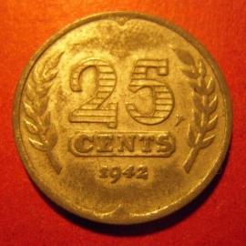German occupation - 25 Cent 1942. Unc !!! Zink KM174 (7349)