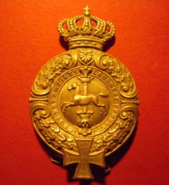 1881 Braunschweig , Braunsschweiger Landwehr Verband insigna with needle  (5574)