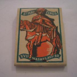 Belgium WHW donation gift. 1941 Match box St.Martin - Wasmes - Verkocht ten bate van Winterhulp. Complete ca. 37x48mm T003a (15232)