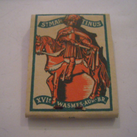 België Winterhulp donatie. Lucifermapje St.Martinus - Wasmes - Verkocht ten bate van Winterhulp. Compleet ca. 37x48mm T003a (15232)