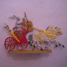 1000 BC Egyptian war chariot 73x50mm , 1x flat 30mm scale.  Kieler Zinnfiguren (15665)