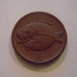 Boldixum , .50 Pfennig 1920. Meissen Porzellan 22mm  Sch104a - II (15161)