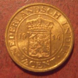 Wilhelmina  , ½ Cent 1914     KM314.1 (11474)