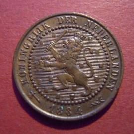 William III -  1 Cent 1884. Bronze KM107 (5879)