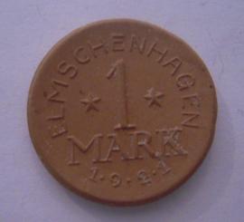 Elmshagen , 1 Mark  1921. Ziegelei III . Elmschenhagen 28mm Sch521a - VII (15950)