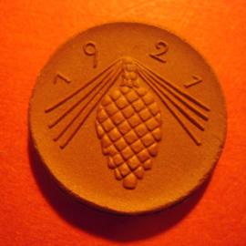 Luckau , 50 Pfennig 1921. Meissen Porselein 23mm Sch160a - III (6215)