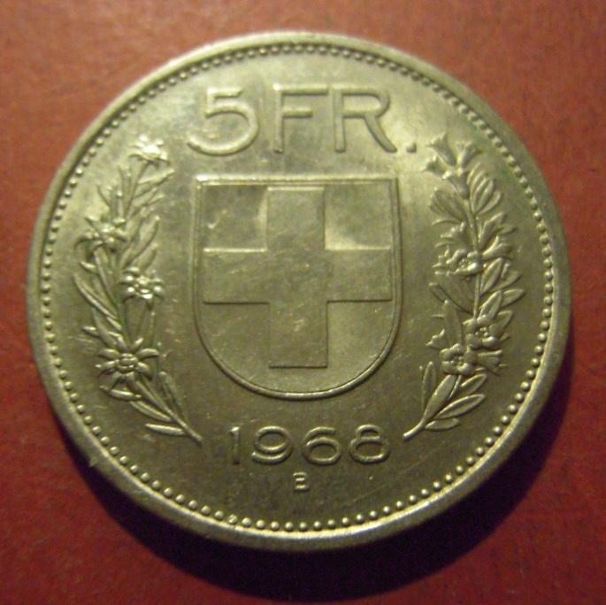 5 Franken 1968 B     KM40a (11997)