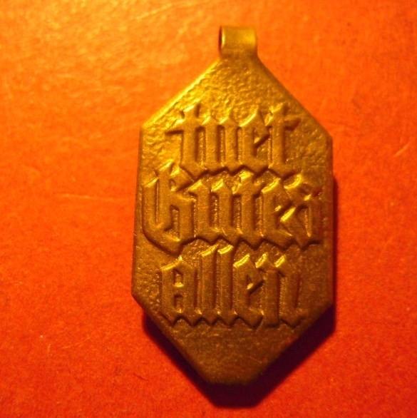 1934-5-4/11 +1935-5-18/19 Caritas , Donation gift Caritas Week      T101.1 Gold coloured (7879)