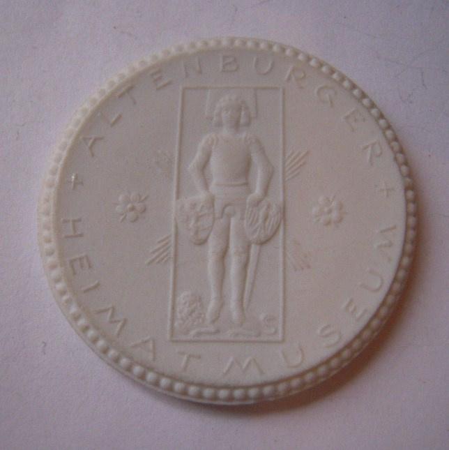 1924 Altenburg , Museum for local history donation - Bernard August von Lindenau. Max. 500 pcs made !! Meissen Porcelain 40mm Sch656n - VIII (14862)
