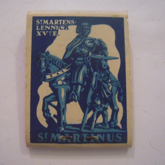 Belgium WHW donation gift. 1941 Match box St.Martin - St. Martens-Lennick - Verkocht ten bate van Winterhulp. Complete ca. 37x48 mm T002a (15230)
