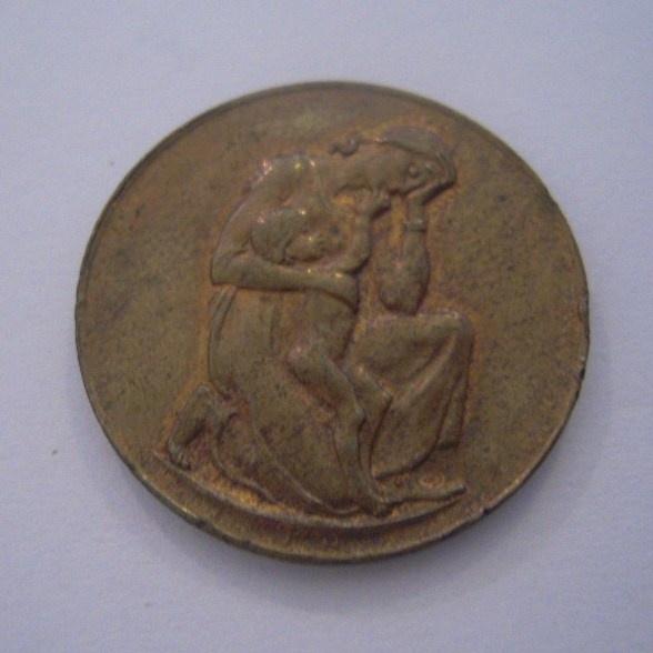 Sachsen 1923 , Deutsche Hyperinflation Medaille - Preisen Lebensmittel April. Cu 28mm (14558)