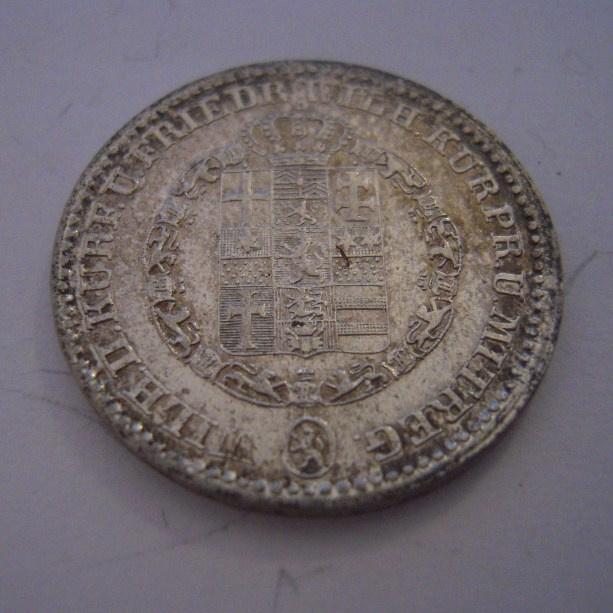 Hesse-Cassel - Friedrich Wilhelm , 1/6 Thaler1838. Silver KM590 (15225)