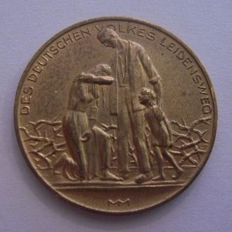 Deutsche Hyperinflation Medaille 1923 , Lebensmittelpreisen 15. November. Messing 32mm (14620)