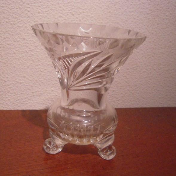 1900 - 1930's  German lead crystal vase. Hand cut 90x110mm  (14022)