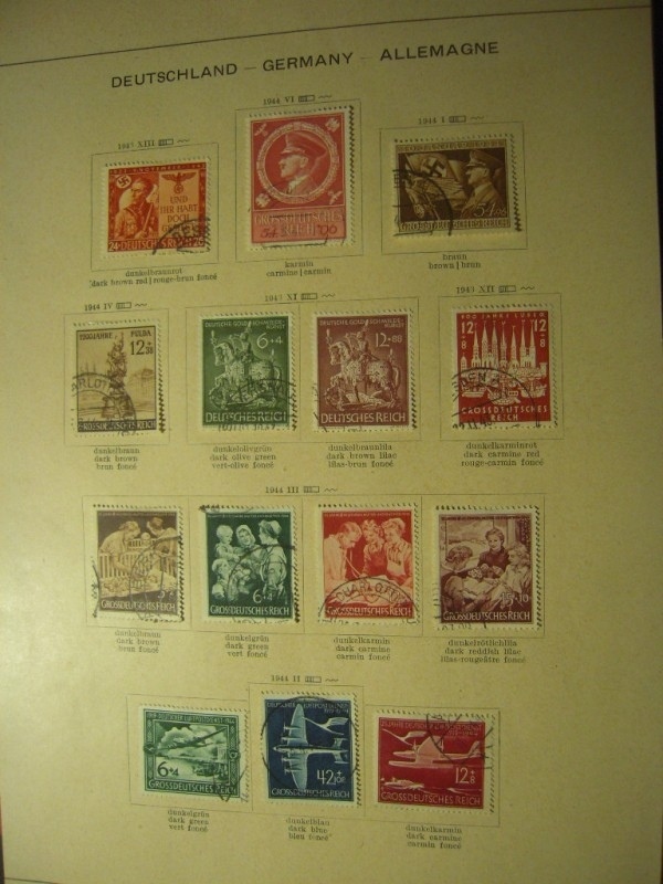 1943-44  , 14x German stamps of the Third Reich during WWII.       (8356)