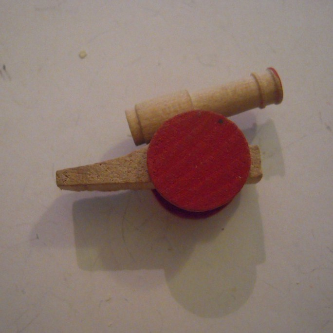 1942-12-19/20 German WHW donation gift. Wooden toys - Cannon T533 (14827)