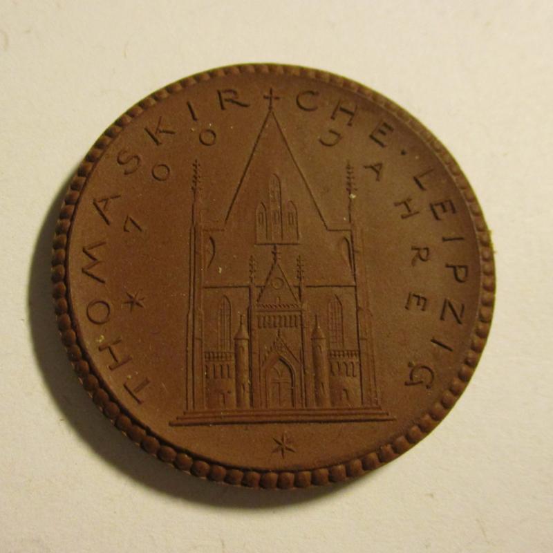 1922 Leipzig , Thomas church 700 yrs donation. Meissen Porcelain 42mm Sch776a - VII (16422)