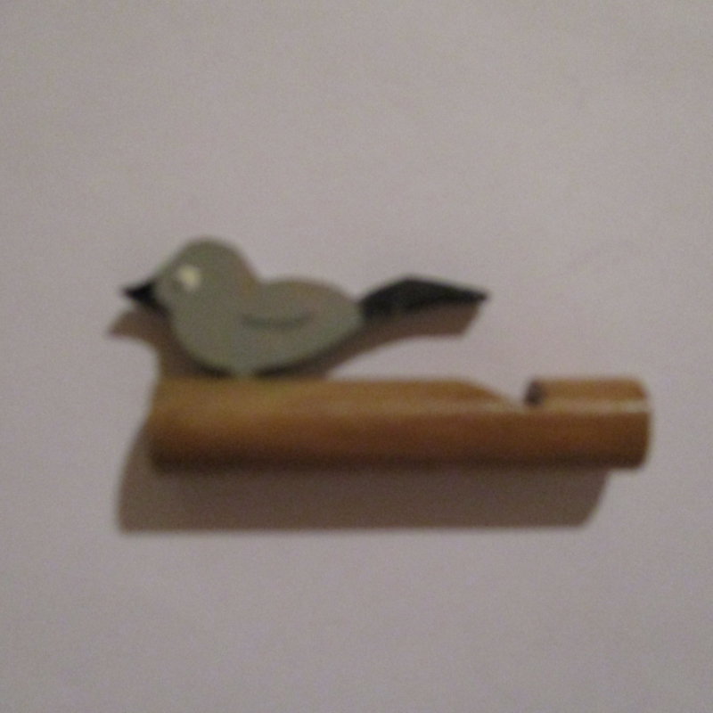 1942-12-19/20 German WHW donation gift. Wooden toys - Flute with bird T529 (16246)