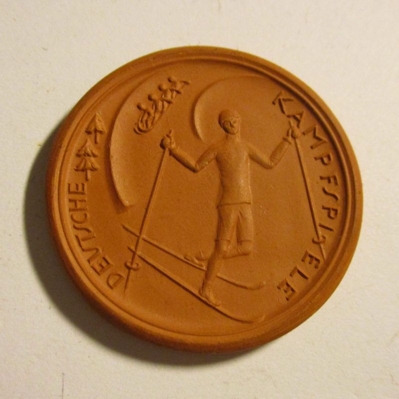1922 Garmisch Partenkirchen , German Wintersports Games. Teichert Meissen Sch-(a) brown (16421)