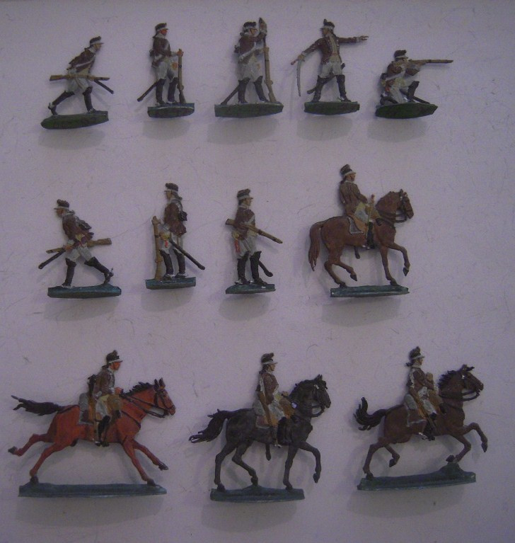 1779 Philadephia dragoons , 12x flat 30mm scale. L. Frank (15344)