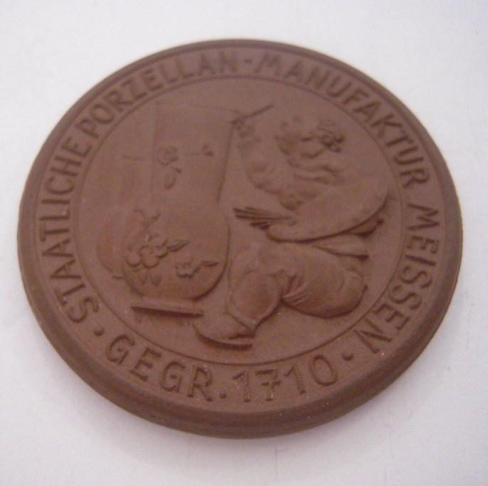 1934 Meissen , Commemoration visit I. Meissen Porcelain 50mm Sch2073a - VII (14756)