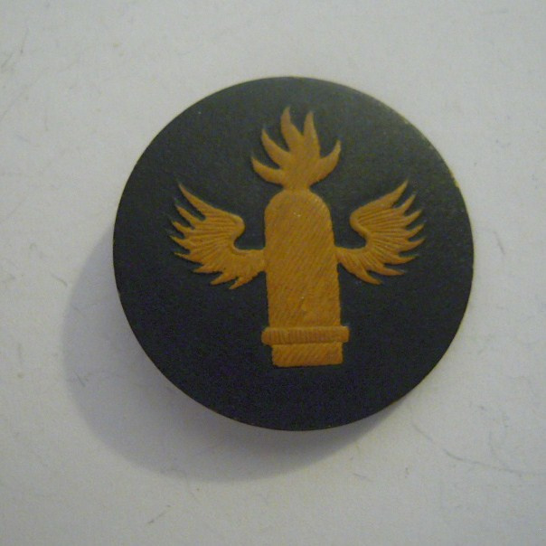 Region X Weser-Ems 1940's - Day of the armed forces pin. Assignment badges - Naval artillery. Pressed cardboad T01 (13706)