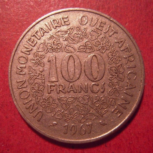 West African States , 100 Francs 1967       KM4 (12627)