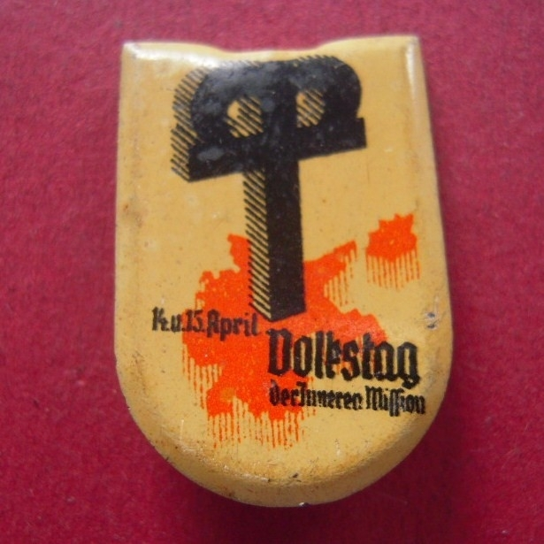 1934-04-14/15 Innere Mission donation pin. Day of the Internal Mission. Metal without manufacturer !! T001.2 (7164)