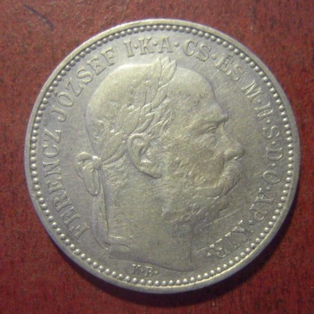 Österreichisch-Ungarische Monarchie , Franz Jozef I , 1 Korona 1895 KB      KM484 (11300)